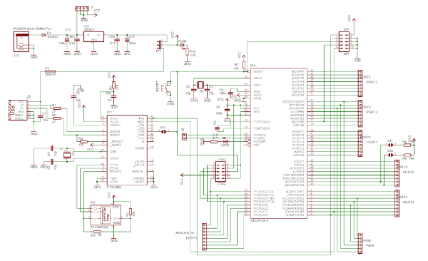 Wiring board schematic